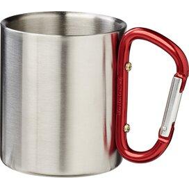 Alps geïsoleerde drinkbeker met karabijnhaak Rood