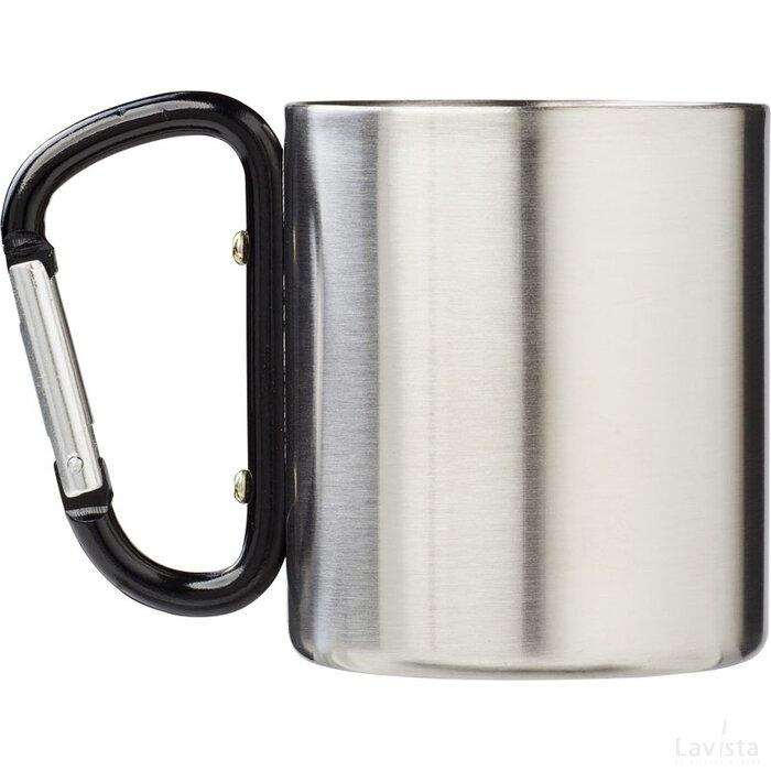 Alps geïsoleerde drinkbeker met karabijnhaak Zwart