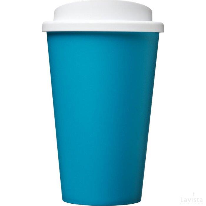 Americano® 350 ml geïsoleerde beker aqua blauw,Wit