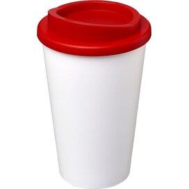 Americano® 350 ml geïsoleerde beker Wit,Rood