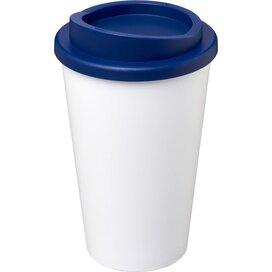 Americano® 350 ml geïsoleerde beker Wit,blauw