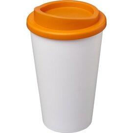 Americano® 350 ml geïsoleerde beker Wit,Oranje