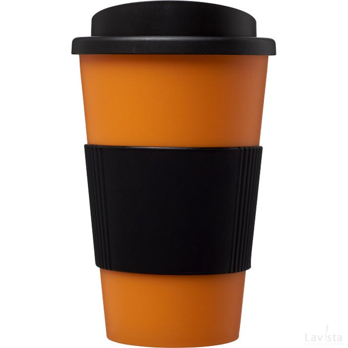 Americano® 350 ml geïsoleerde beker met grip Oranje,Zwart