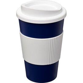 Americano® 350 ml geïsoleerde beker met grip blauw,Wit