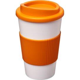 Americano® 350 ml geïsoleerde beker met grip Wit,Oranje