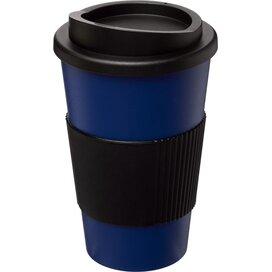 Americano® 350 ml geïsoleerde beker met grip blauw,Zwart