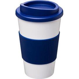 Americano® 350 ml geïsoleerde beker met grip Wit,blauw