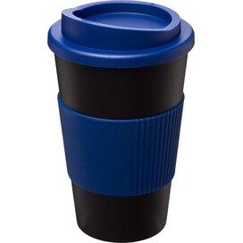 Americano® 350 ml geïsoleerde beker met grip Zwart,blauw