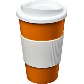 Americano® 350 ml geïsoleerde beker met grip Oranje,Wit