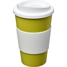 Americano® 350 ml geïsoleerde beker met grip Lime,Wit