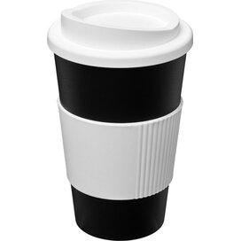 Americano® 350 ml geïsoleerde beker met grip Zwart,Wit