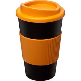 Americano® 350 ml geïsoleerde beker met grip Zwart,Oranje