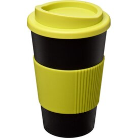 Americano® 350 ml geïsoleerde beker met grip Zwart,Lime