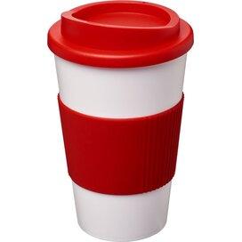 Americano® 350 ml geïsoleerde beker met grip Wit,Rood