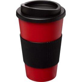 Americano® 350 ml geïsoleerde beker met grip Rood,Zwart