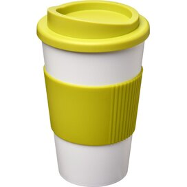 Americano® 350 ml geïsoleerde beker met grip Wit,limegroen