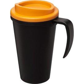 Americano® grande 350 ml geïsoleerde beker Zwart,Oranje