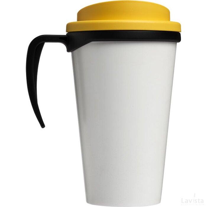 Brite Americano® grande 350 ml geïsoleerde beker Zwart,geel