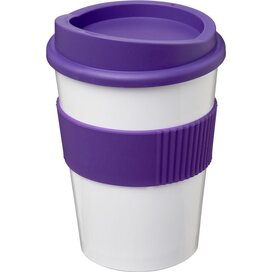 Americano® medio 300 ml beker met grip Wit,Paars