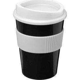 Americano® medio 300 ml beker met grip Zwart,Wit