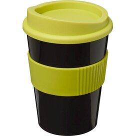 Americano® medio 300 ml beker met grip Zwart,Lime
