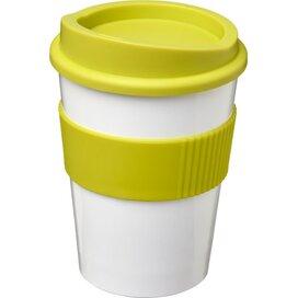 Americano® medio 300 ml beker met grip Wit,limegroen