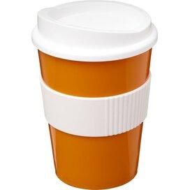 Americano® medio 300 ml beker met grip Oranje,Wit
