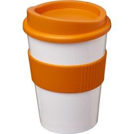 Americano® medio 300 ml beker met grip Wit,Oranje