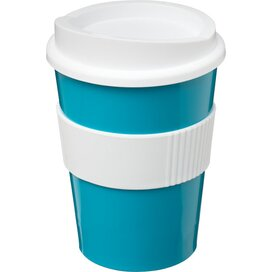Americano® medio 300 ml beker met grip aqua blauw,Wit