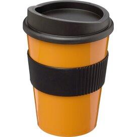 Americano® medio 300 ml beker met grip Oranje,Zwart