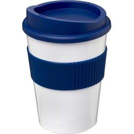 Americano® medio 300 ml beker met grip Wit,blauw