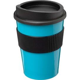 Americano® medio 300 ml beker met grip aqua blauw,Zwart