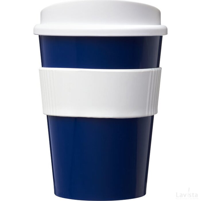 Americano® medio 300 ml beker met grip blauw,Wit