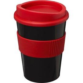 Americano® medio 300 ml beker met grip Zwart,Rood