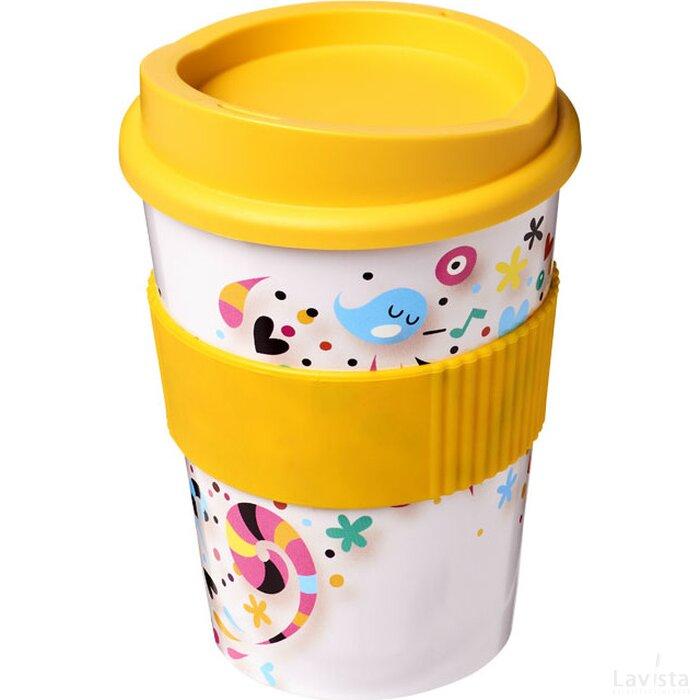 Brite Americano® Medio 300 ml beker met grip geel
