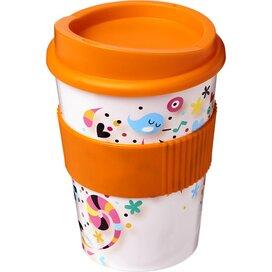 Brite Americano® Medio 300 ml beker met grip Oranje