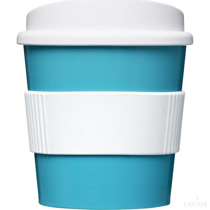 Americano® primo 250 ml beker met grip aqua blauw,Wit