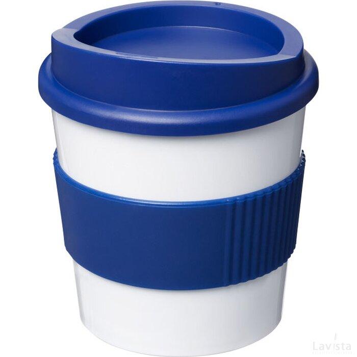 Americano® primo 250 ml beker met grip Wit,blauw