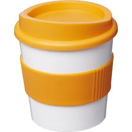 Americano® primo 250 ml beker met grip Wit,Oranje