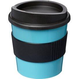 Americano® primo 250 ml beker met grip aqua blauw,Zwart