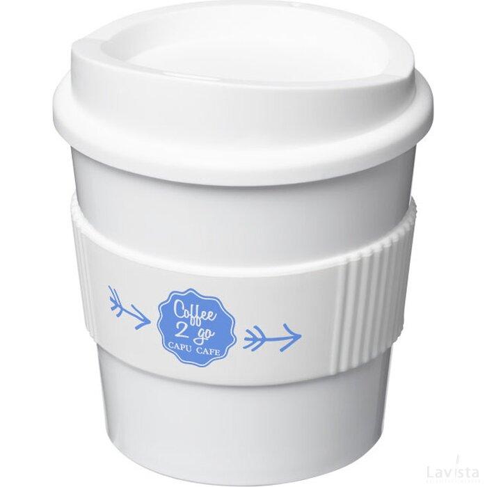 Americano® primo 250 ml beker met grip Wit
