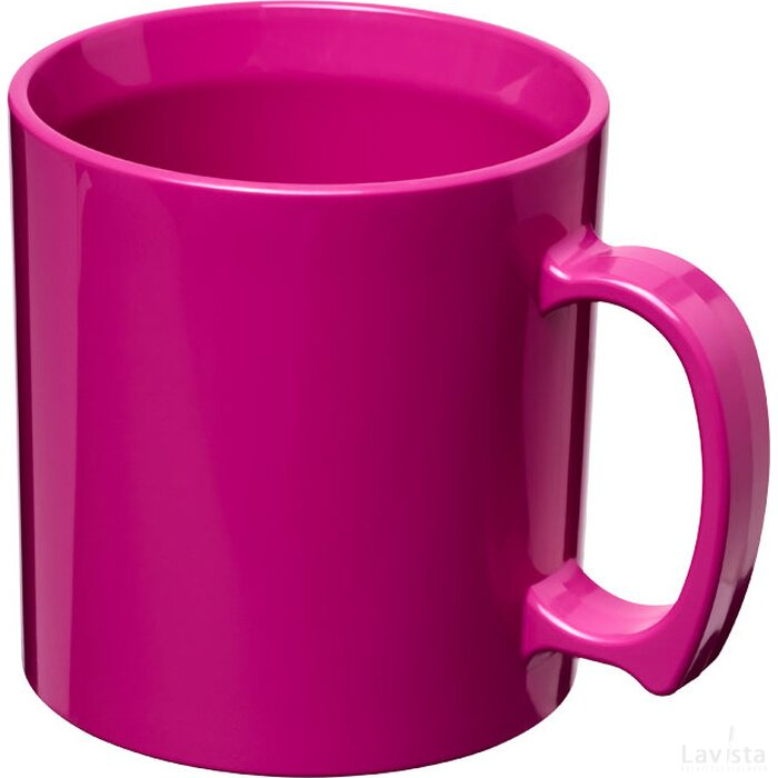 Standard 300 ml kunststof mok Roze Magenta