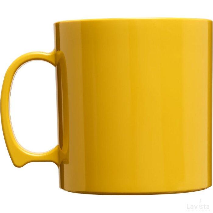 Standard 300 ml kunststof mok geel
