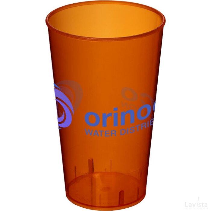 Arena 375 ml kunststof beker Transparant,Oranje Transparant oranje