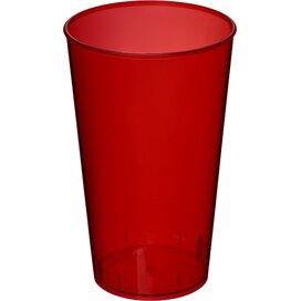 Arena 375 ml kunststof beker Transparant,Rood Transparant rood