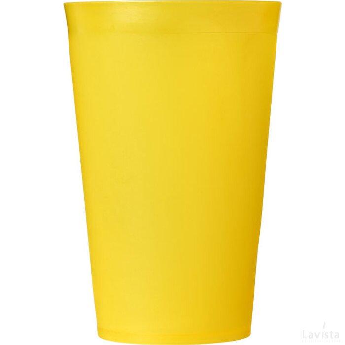 Drench 300 ml kunststof beker geel