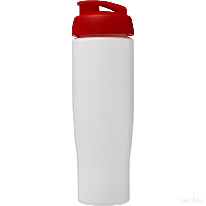 H2O Tempo® 700 ml sportfles met flipcapdeksel Wit,Rood