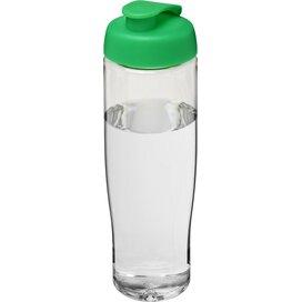 H2O Tempo® 700 ml sportfles met flipcapdeksel Transparant,Groen