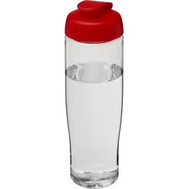H2O Tempo® 700 ml sportfles met flipcapdeksel Transparant,Rood