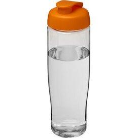 H2O Tempo® 700 ml sportfles met flipcapdeksel Transparant,Oranje